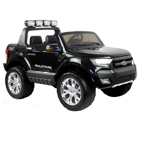 Ford Ranger Ute, 4x4 4WD Electric Ride On Toy for Kids - Black