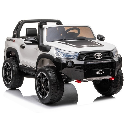 Toyota Hilux Ute 2021, 4x4 4WD Licensed Electric Ride On Toy for Kids - White Pre-Order ETA 31st May