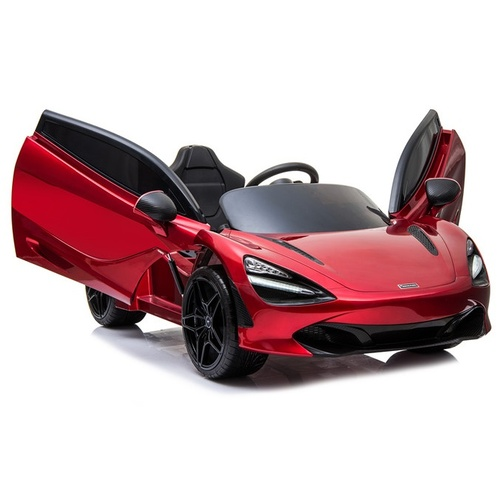 McLaren 720S Sports Car, 12V Electric Ride On Toy for Kids - Red