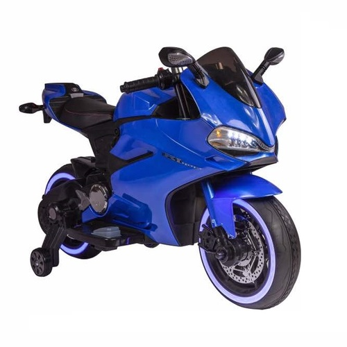 Ducati Motorbike Replica, 12V Electric Ride On Toy - Blue Pre-Order 5th Nov